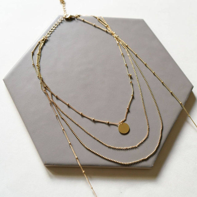 'Myra' Gold Layered Necklace