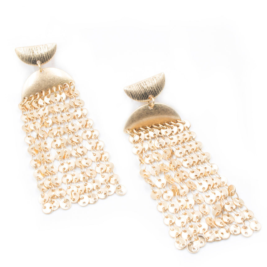 Ellie Metal Fringe Earrings - Arlo and Arrows