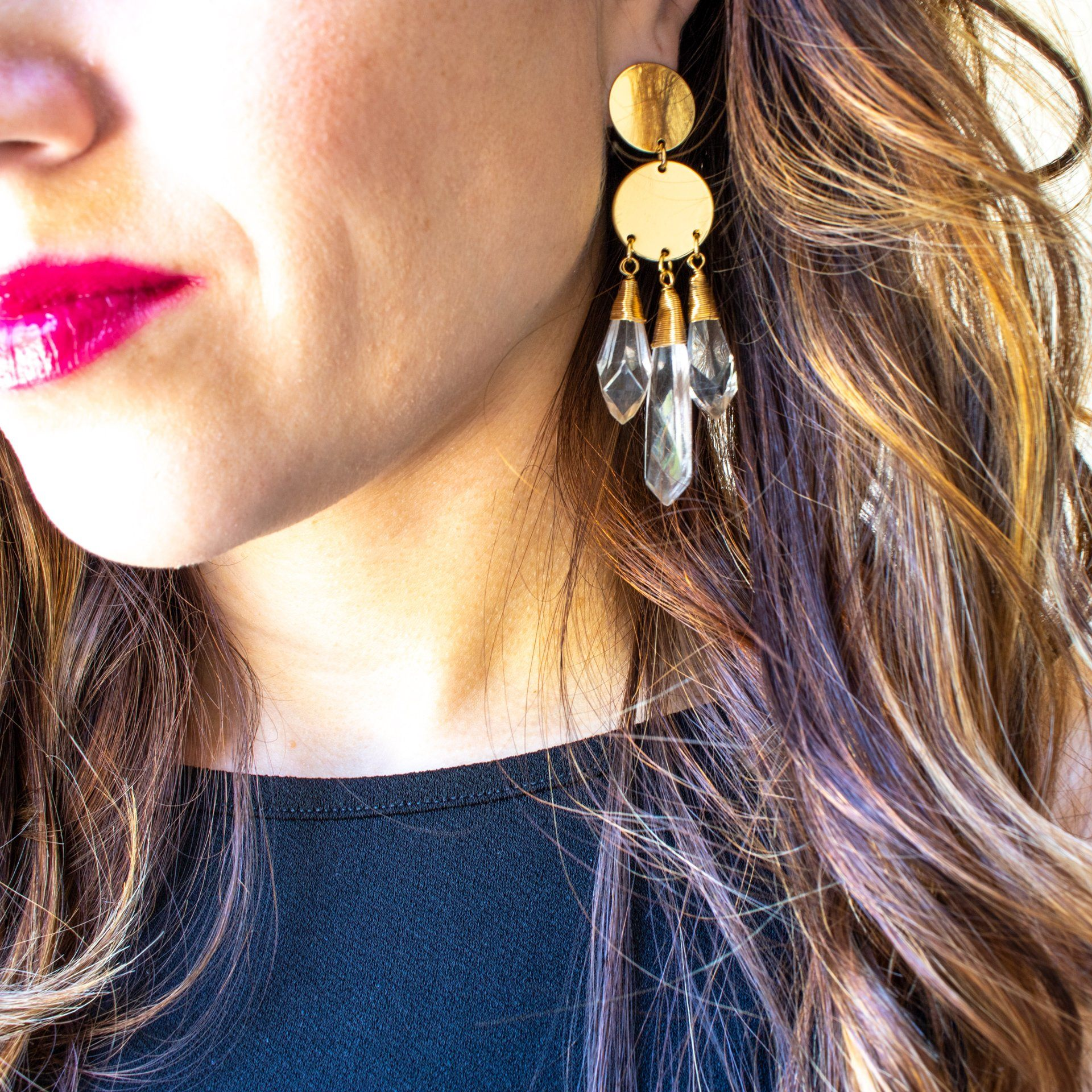 Chandelier Lucite Drop Earrings - Arlo and Arrows