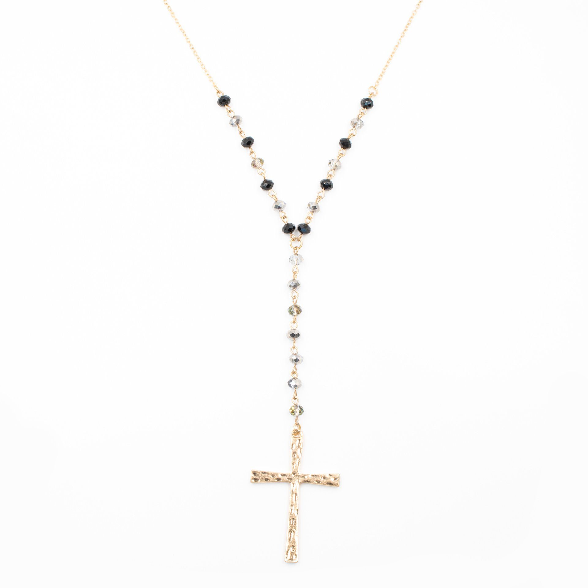 Cross Pendant Y Drop Necklace - Arlo and Arrows