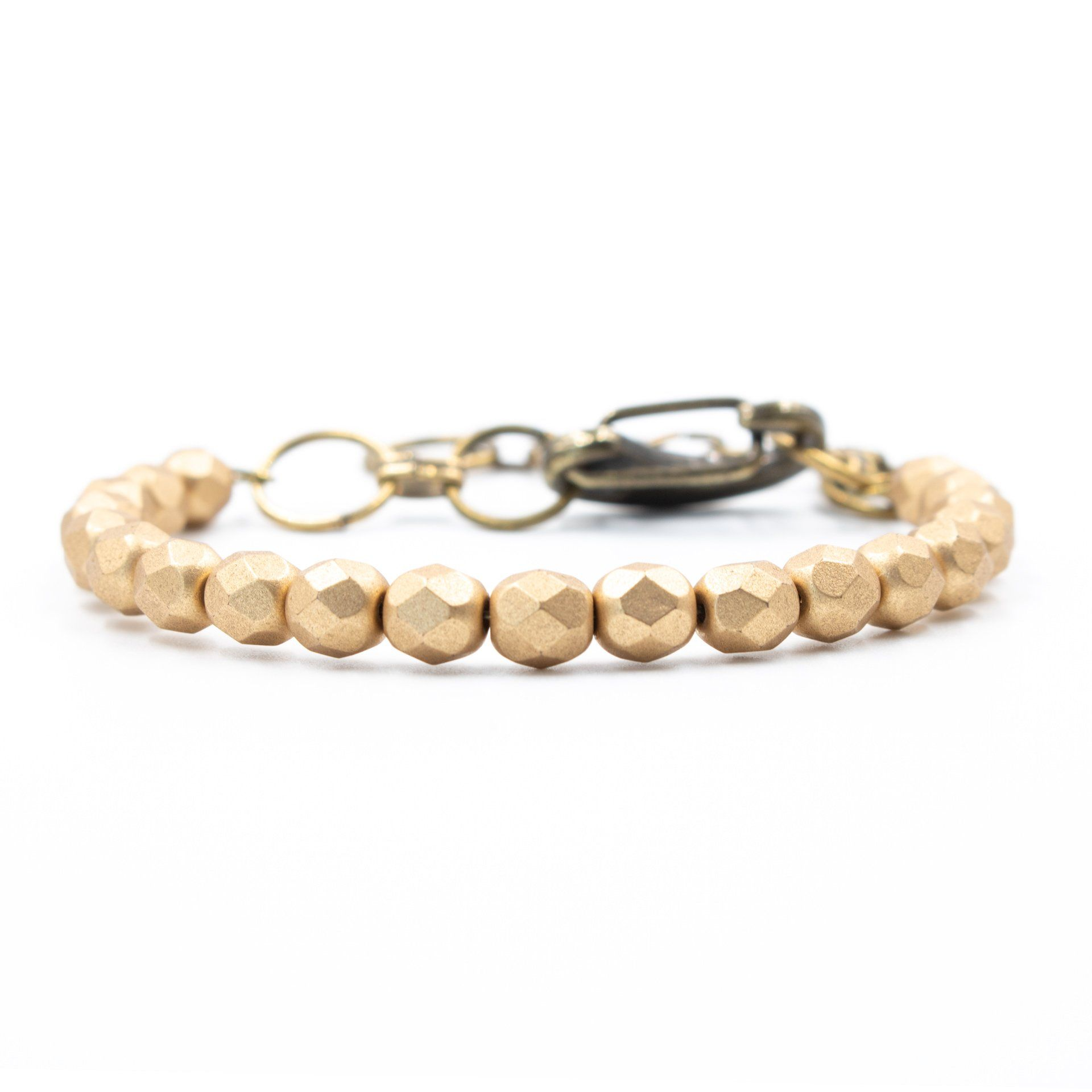Handmade Gold Beaded Bracelet