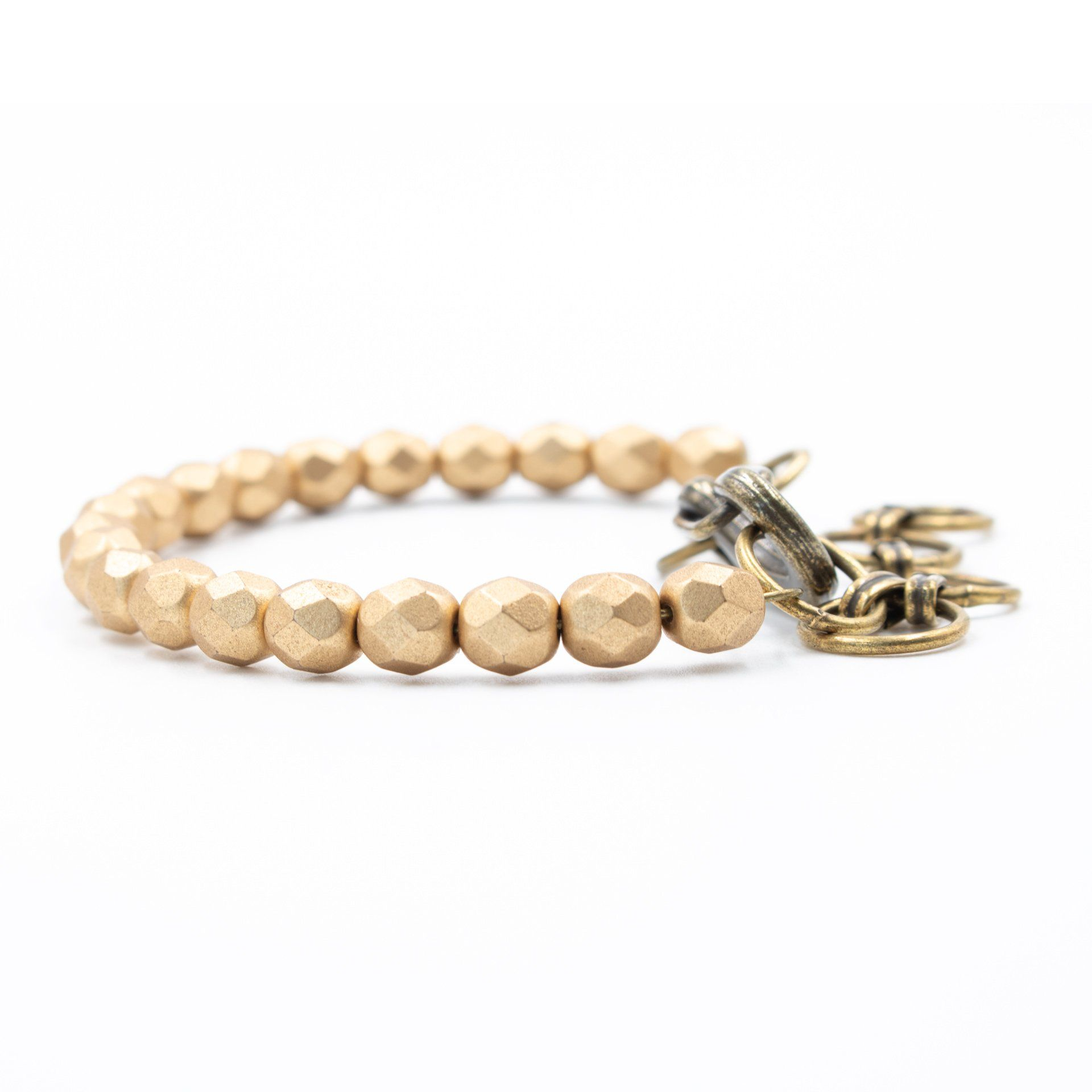The Mini Bangle Bracelet in Matte Metallic Gold
