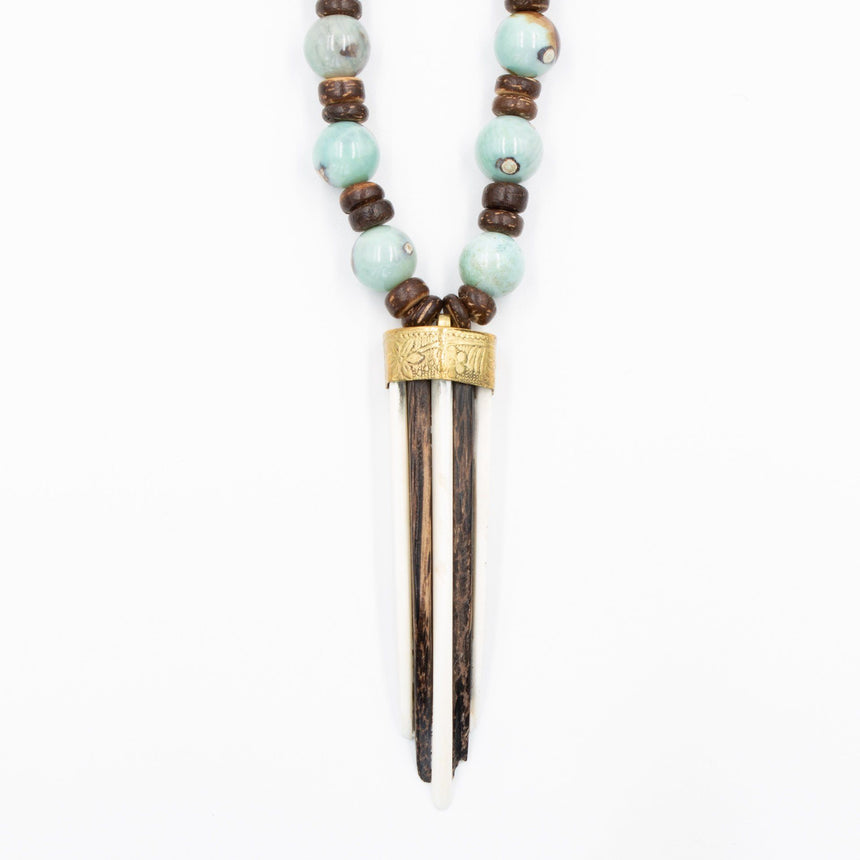 Ox Bone Wooden Shortie Necklace - Arlo and Arrows