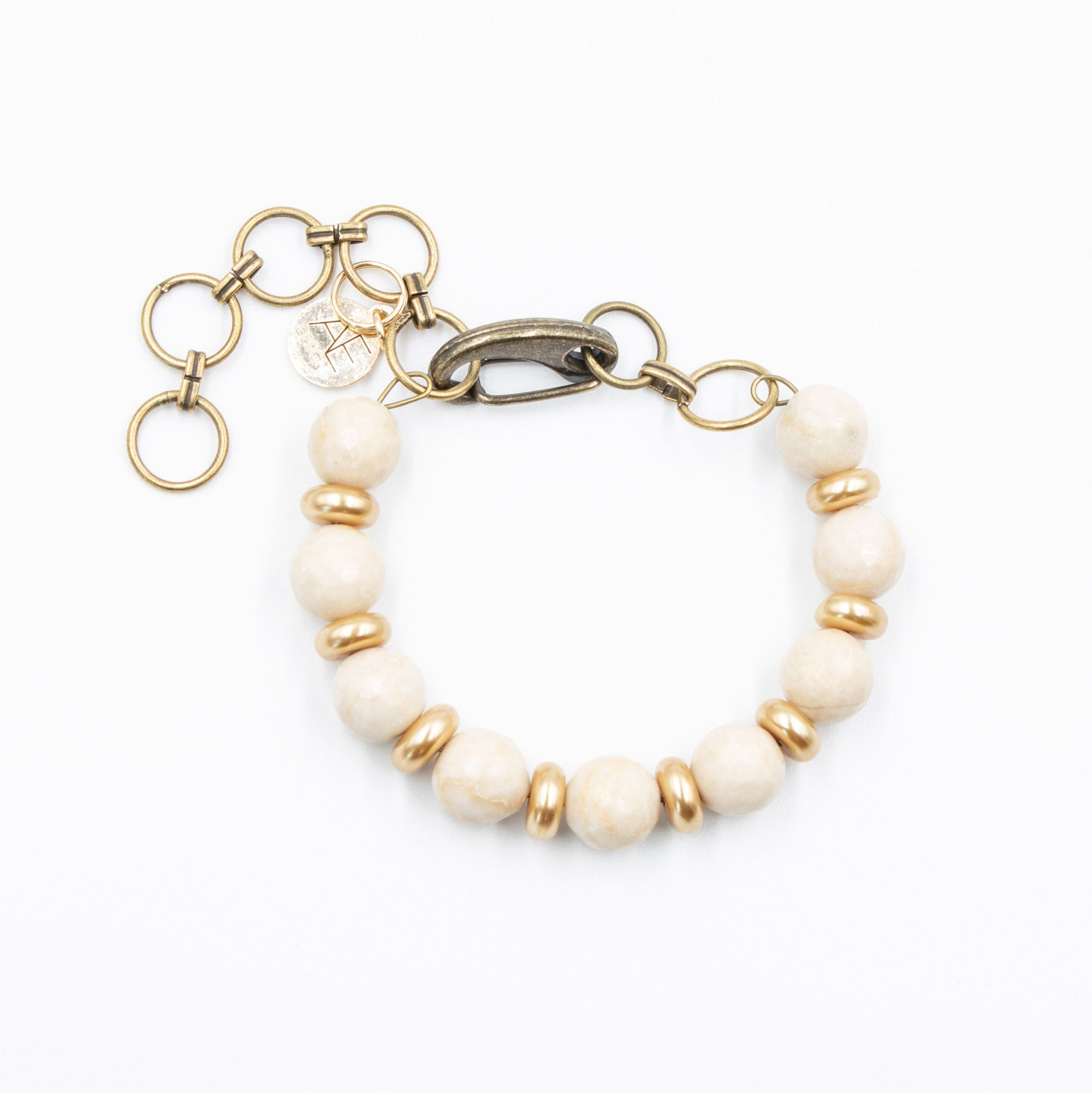 The Midi Bangle Bracelet in Ivory and Gold
