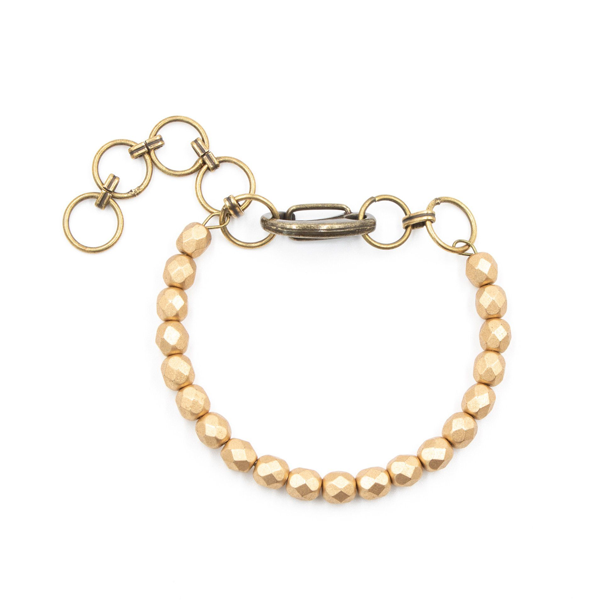 Handmade Adjustable Gold Beaded Bracelet
