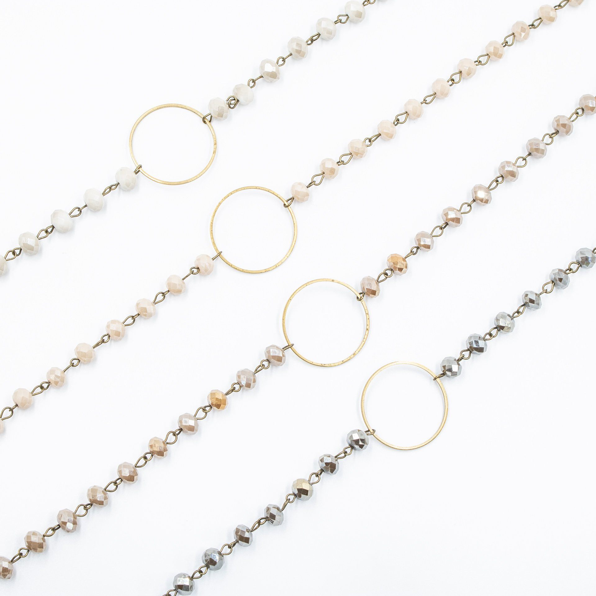 Antique Gold Circle Crystal Choker (4 Variations) - Arlo and Arrows