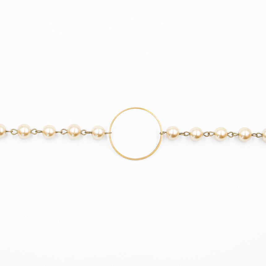 Antique Gold Circle Pearl Choker (2 Variations) - Arlo and Arrows