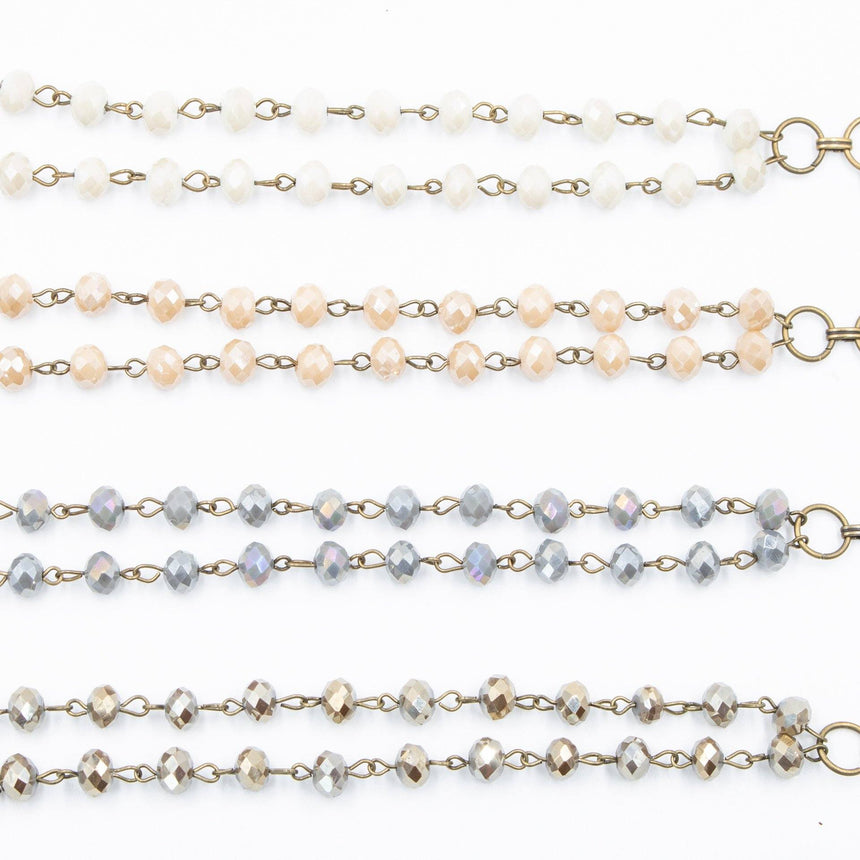 Double Strand Crystal Beaded Bracelet (4 Variations) - Arlo and Arrows