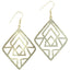 Gold Geometric Earring - Bourbon And Boweties