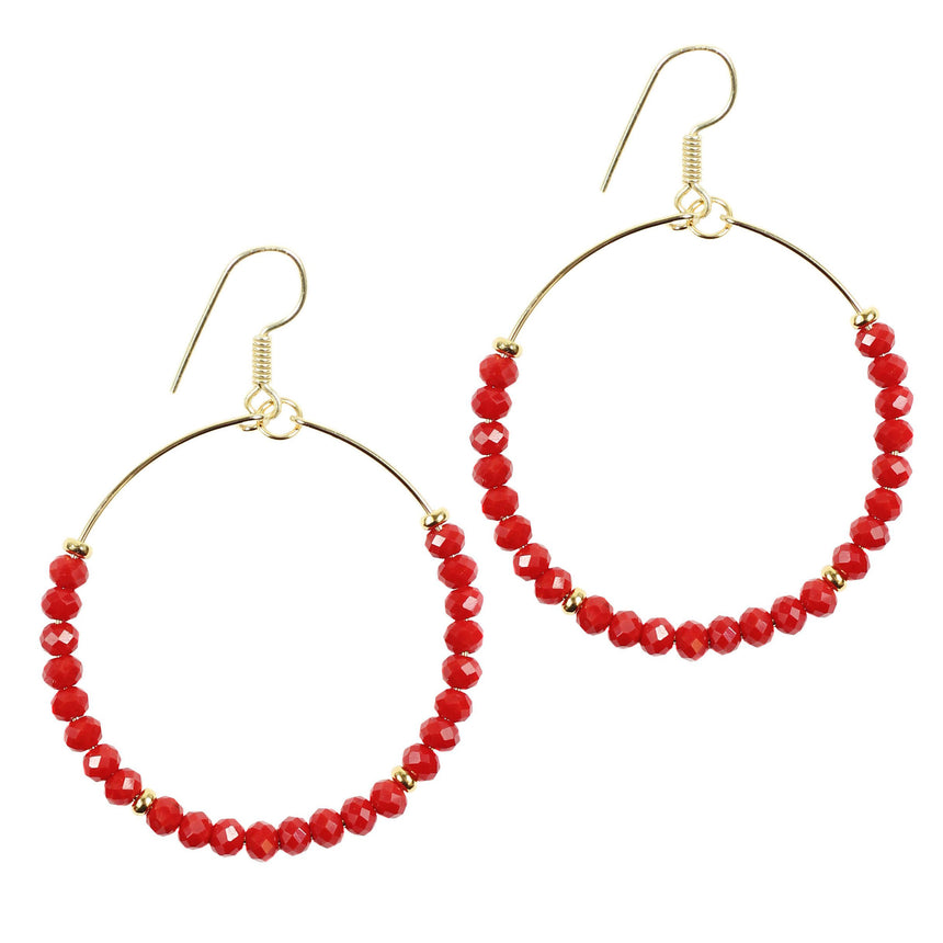 The Chloe Earring 16 - Red