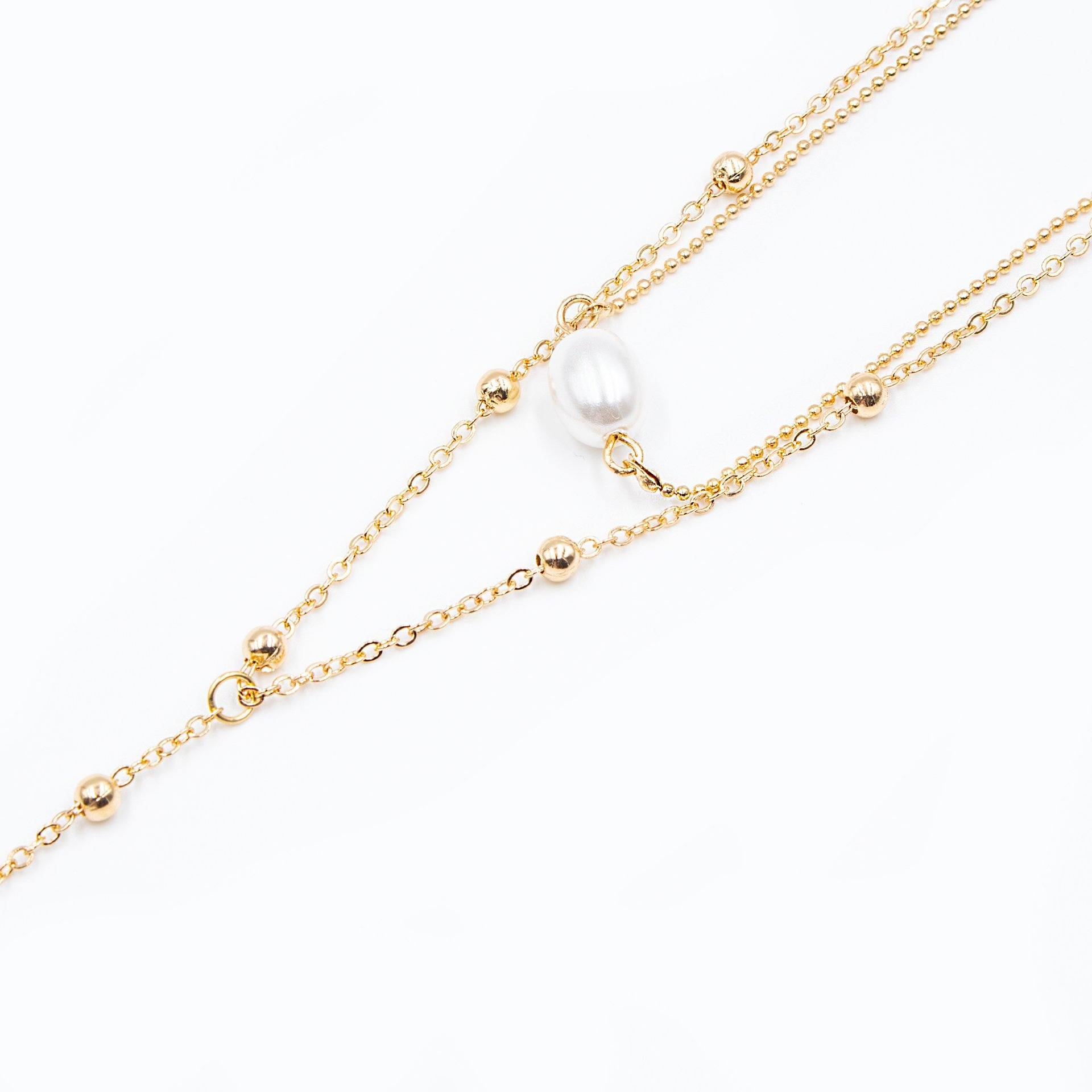 Gold Seashell And Pearl Layered Necklace