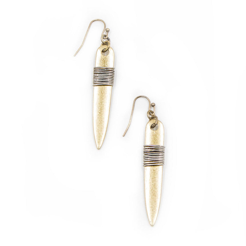 'Wrapped' Coiled Drop Earrings (2 Variations) - Arlo and Arrows