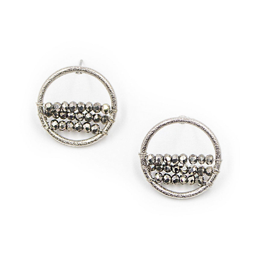Layered Beads Circle Earrings - Arlo and Arrows