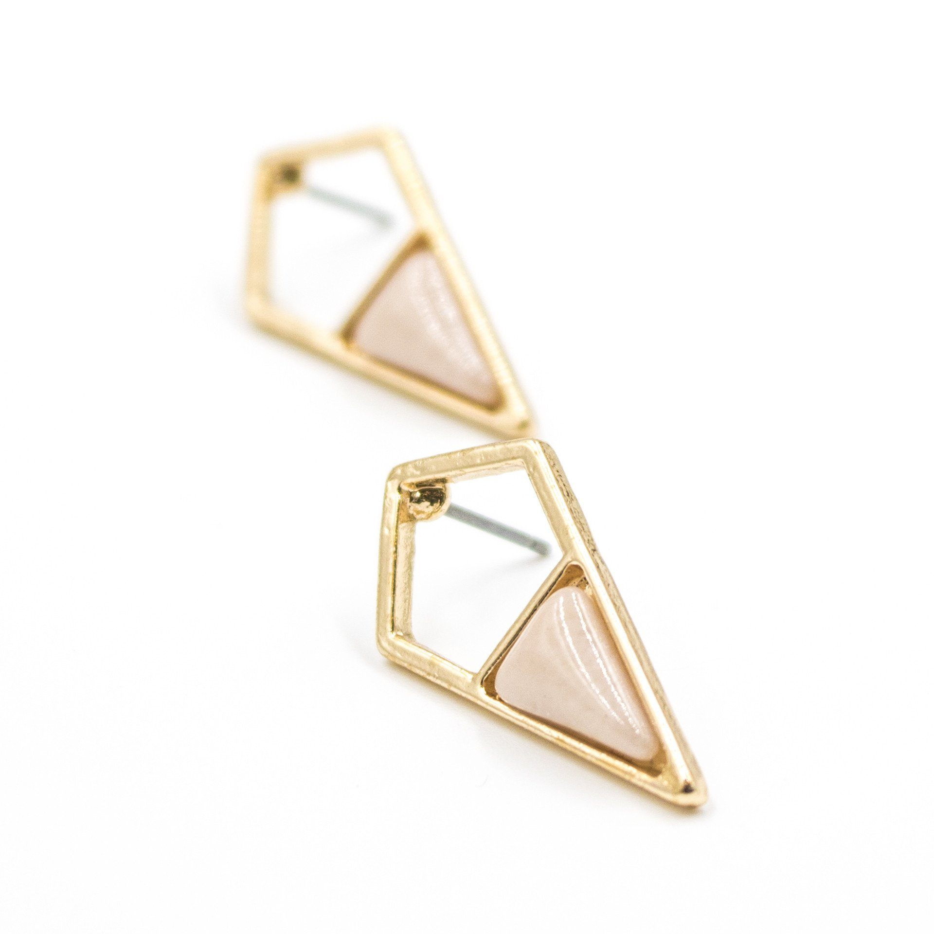 Petite Rhombus Shaped Stone Earrings - Arlo and Arrows