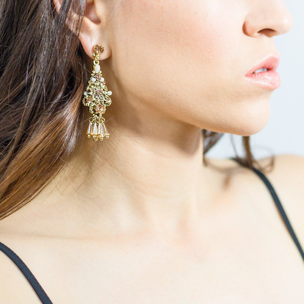 'Champagne Fever' Drop Earrings - Arlo and Arrows