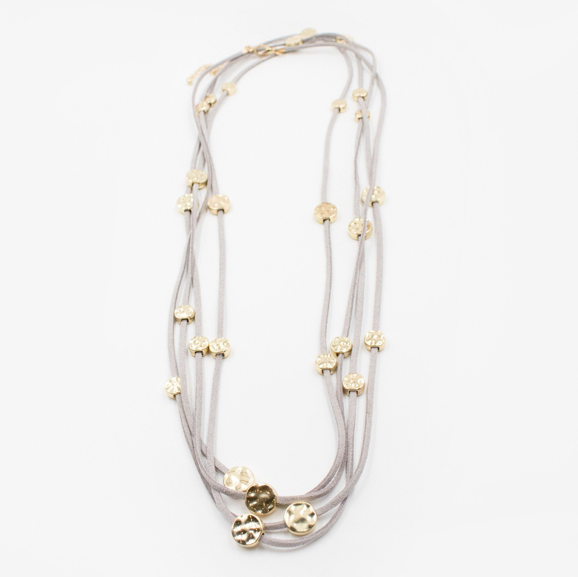 'Suede of Gold' Layered Necklace (2 Variations) - Arlo and Arrows