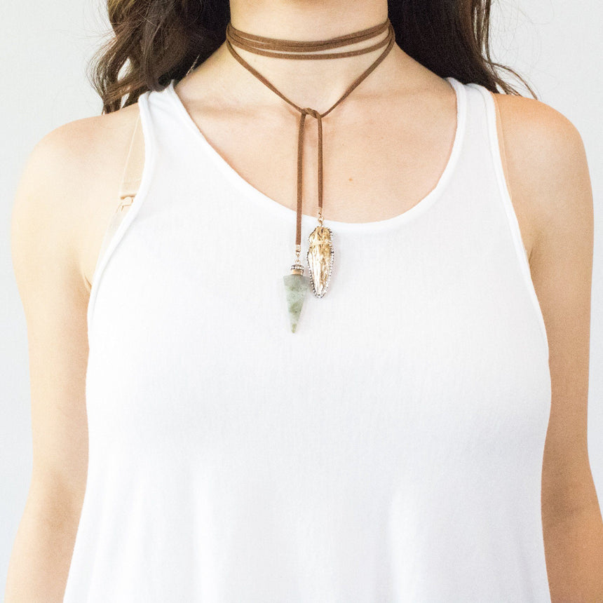 'Arrowhead' Choker Necklace (2 Variations) - Arlo and Arrows