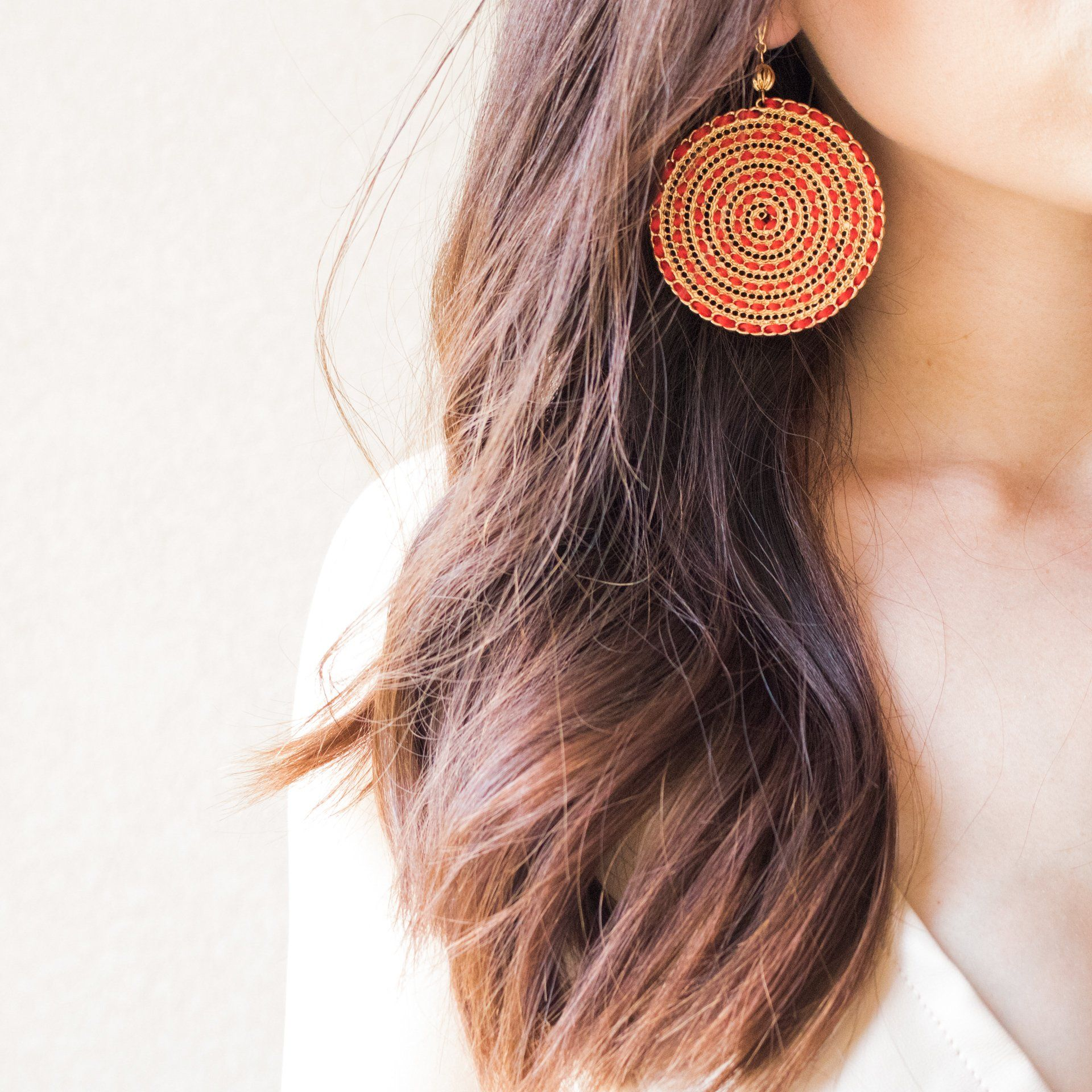 Believe in Magic Earrings in Red and Gold - Arlo and Arrows