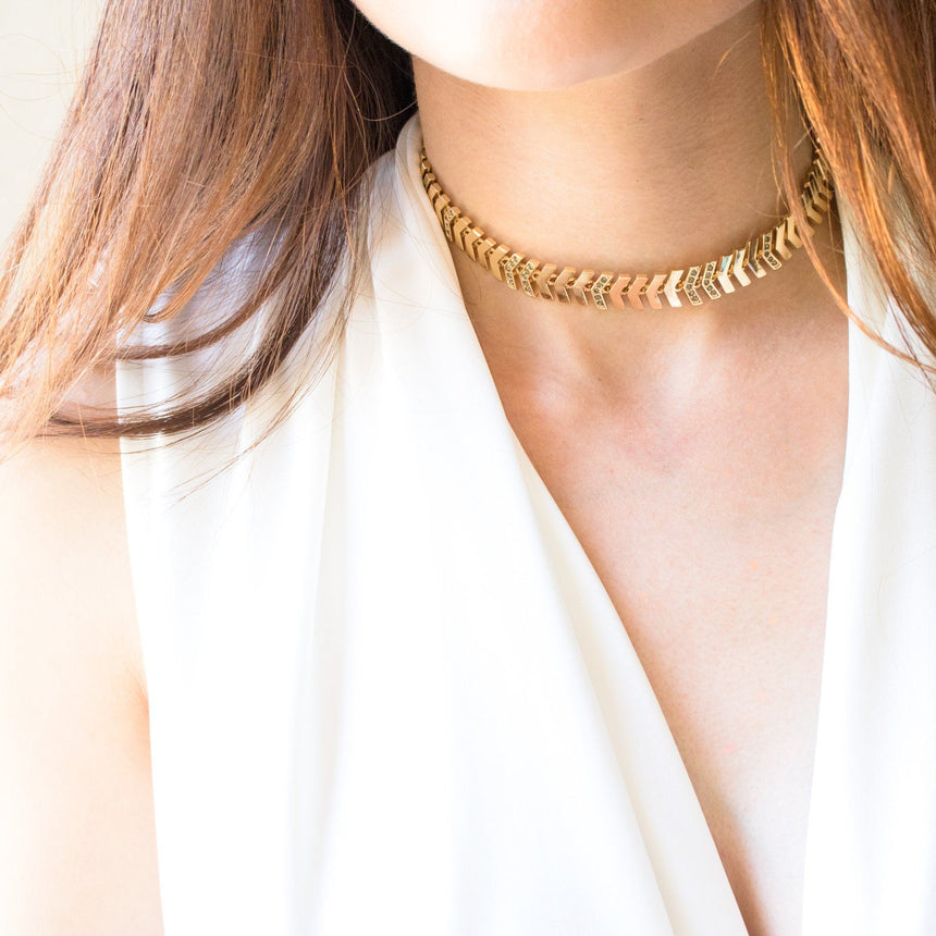 Golden Tribe Choker in Gold - Arlo and Arrows