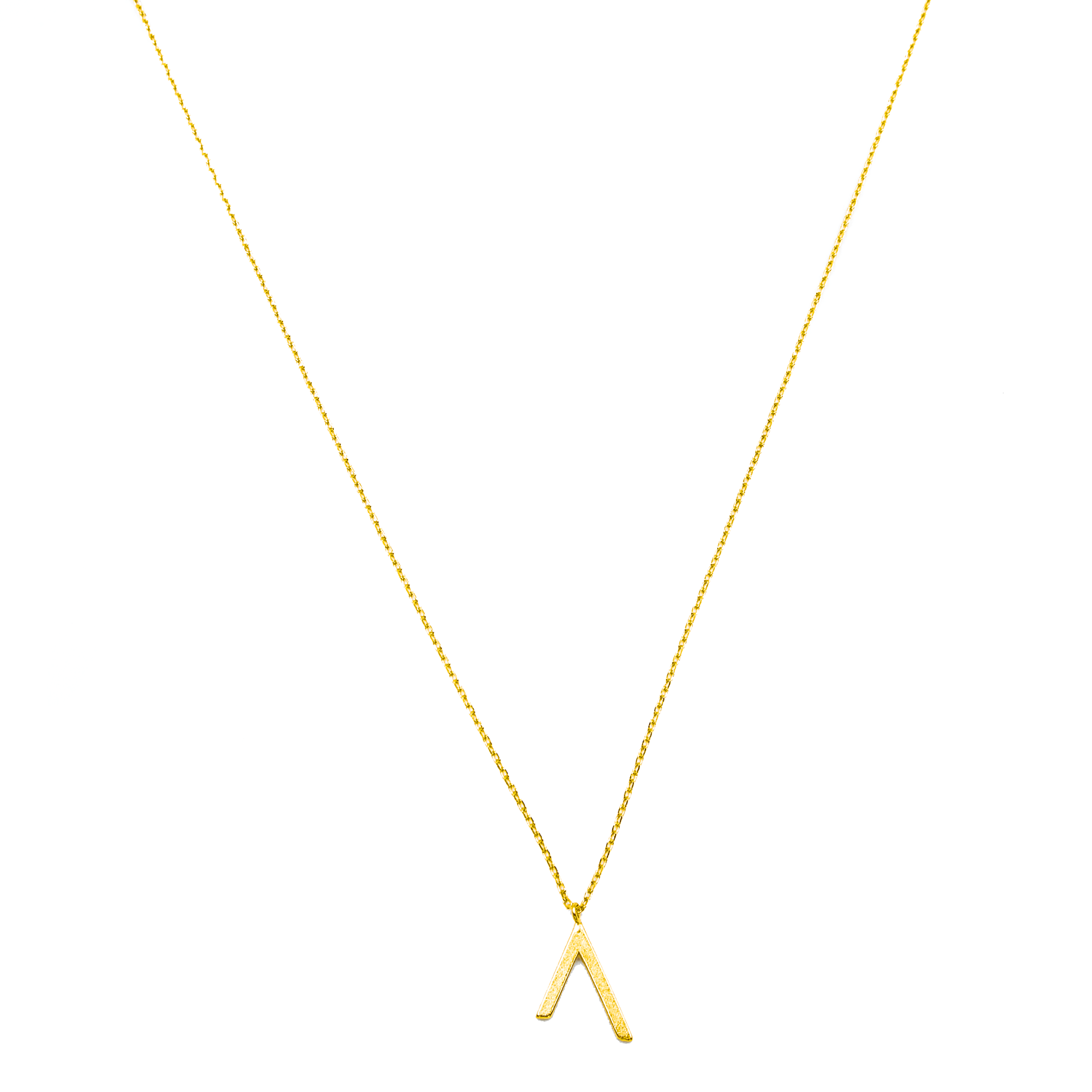 Inverted V Gold Metal Pendant Necklace - Arlo and Arrows
