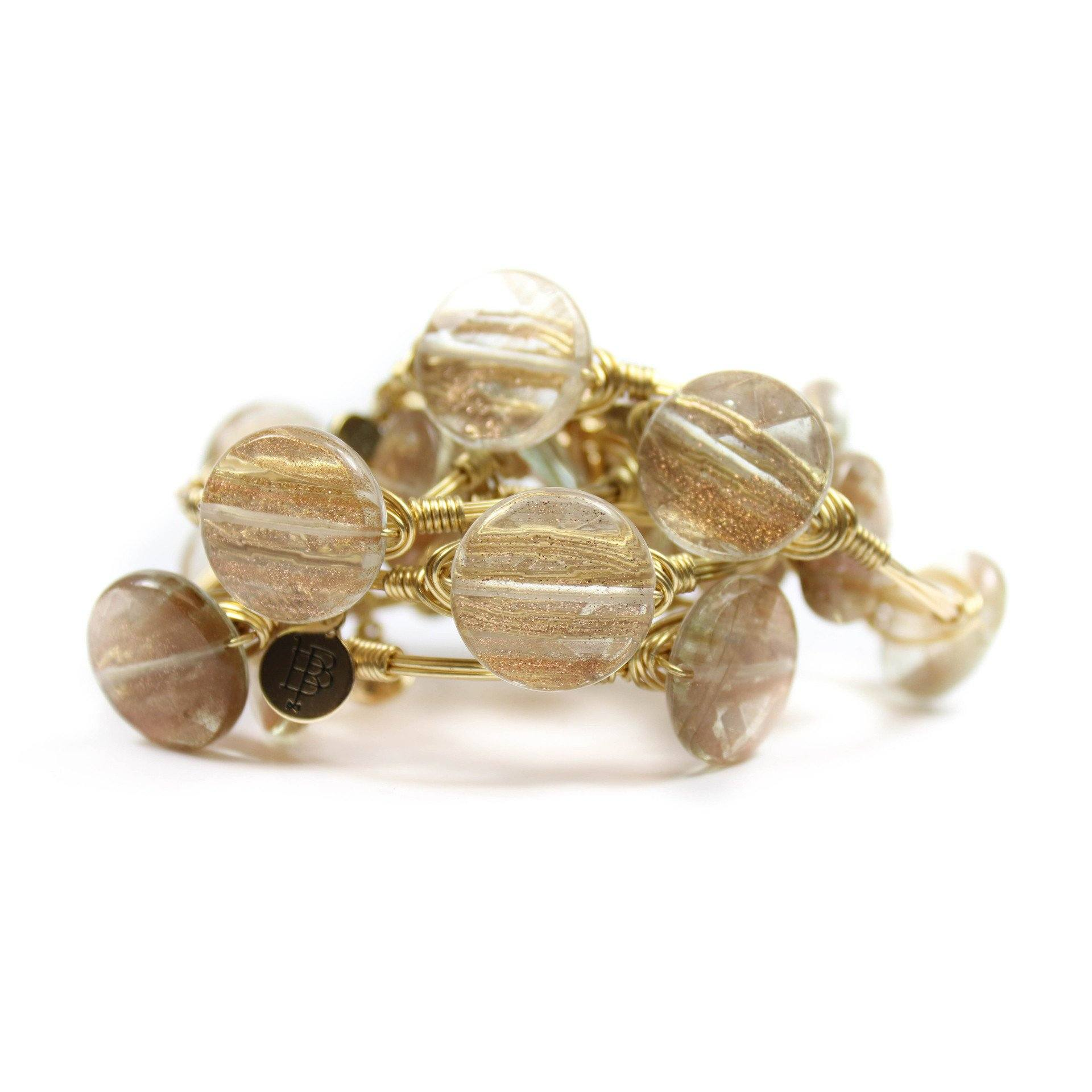 Little Ladies Rutilated Quartz Bangle Bracelet - Arlo and Arrows