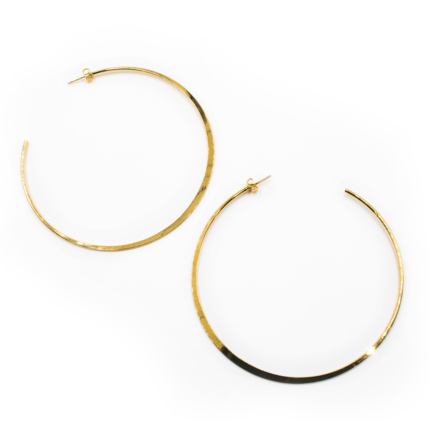 Large Gold Hoop Earrings - Fashion Jewelry