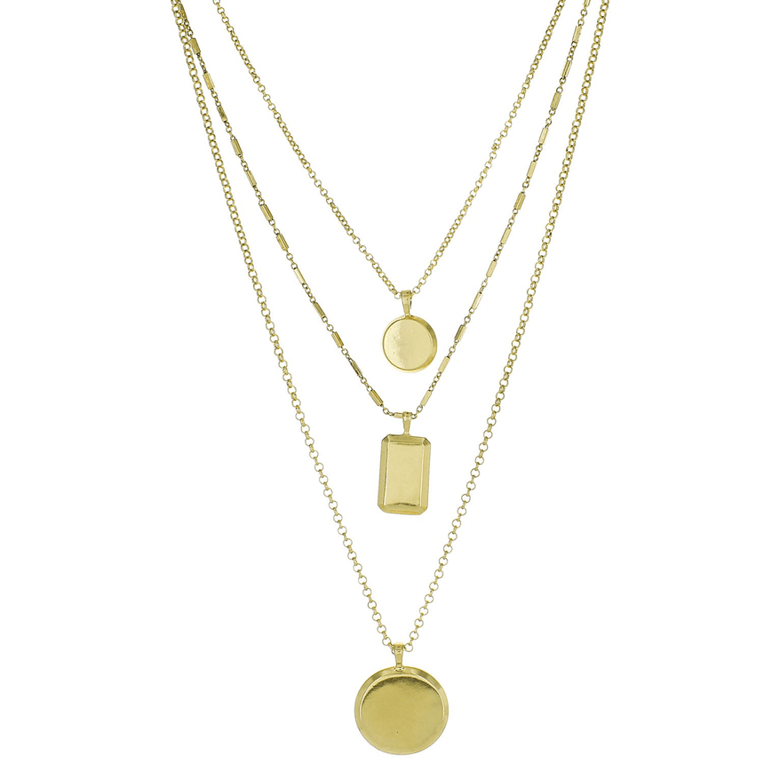 Gold Charm Necklace Layered