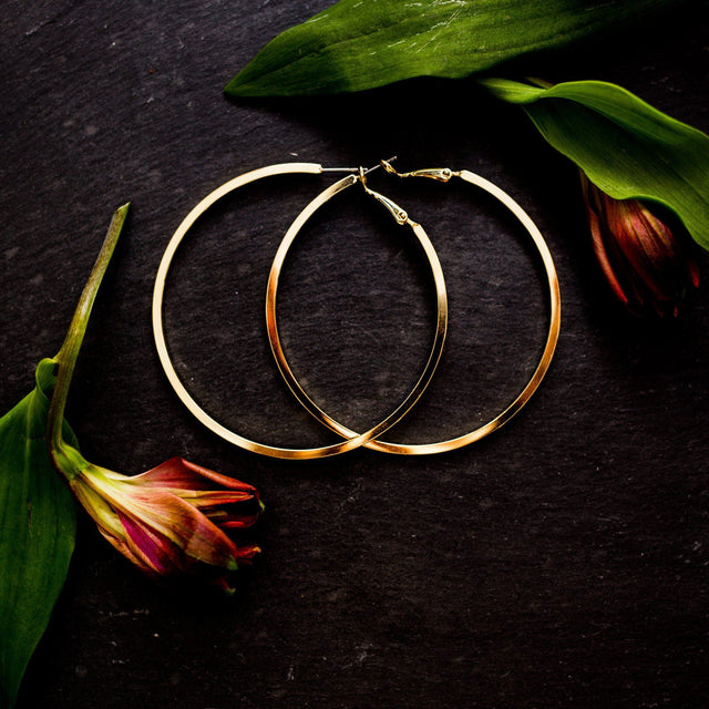 'Yours Truly' Classic Hoop Earrings - Arlo and Arrows
