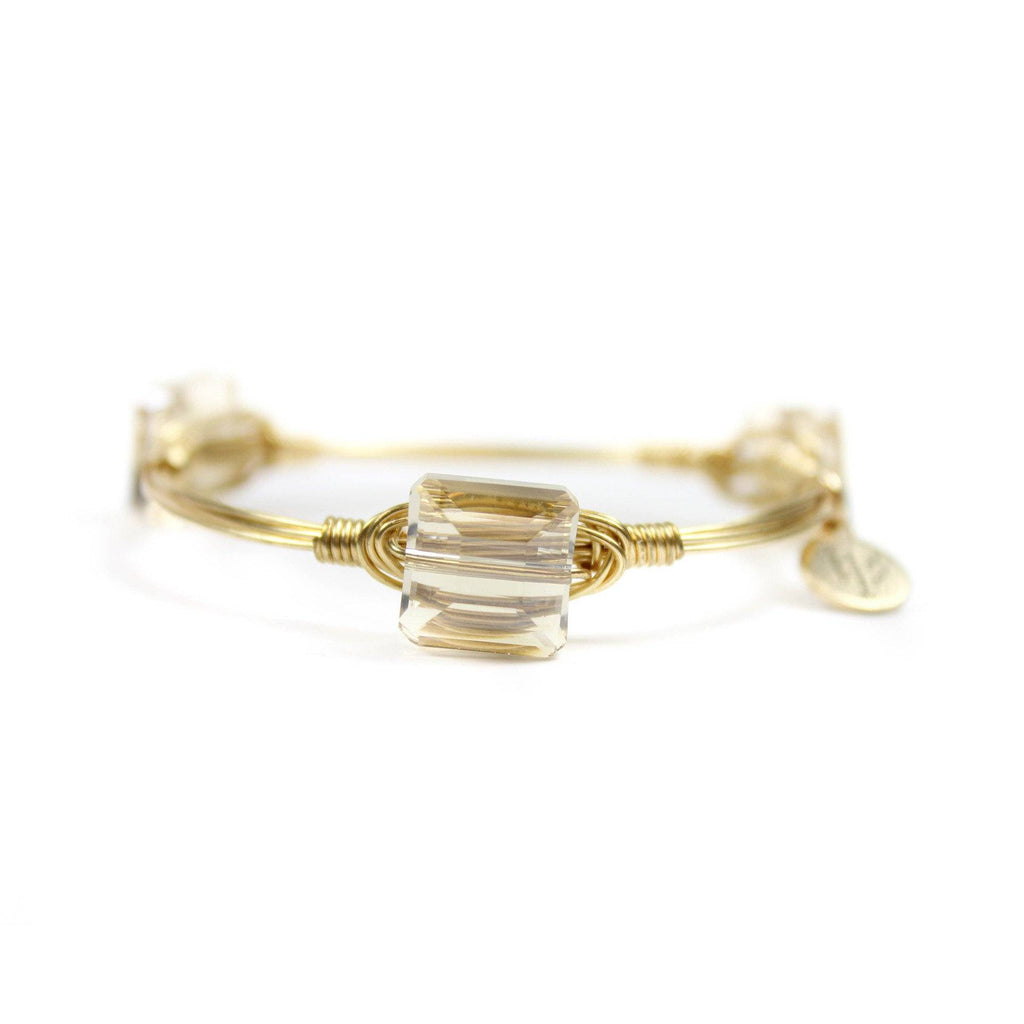 Little Ladies Champagne Iridescent Bangle Bracelet - Arlo and Arrows