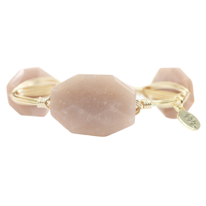 Beige Bangle Bracelet - Arlo And Arrows