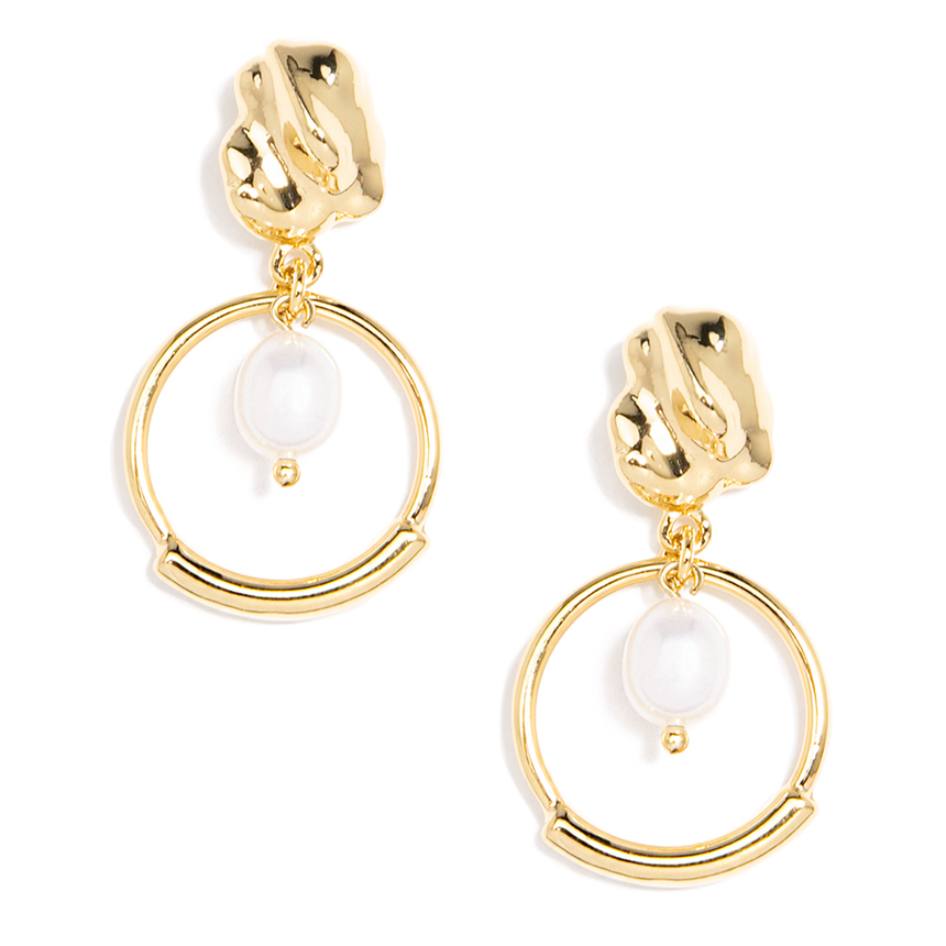 'Ava' Abstract Pearl Earring