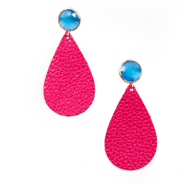 'Auden' Leather Teardrop Earrings - Arlo and Arrows