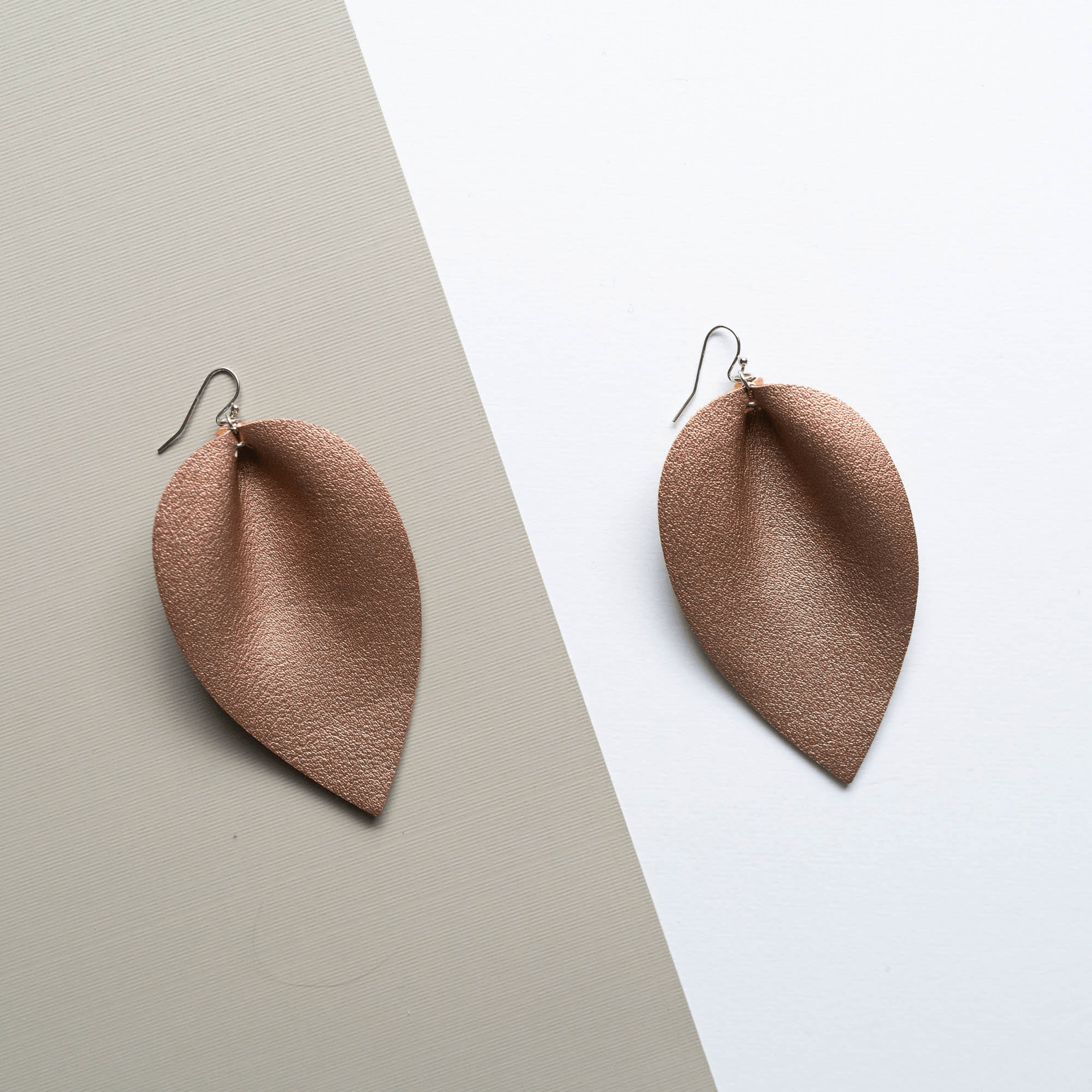 Metallic Leather Earrings