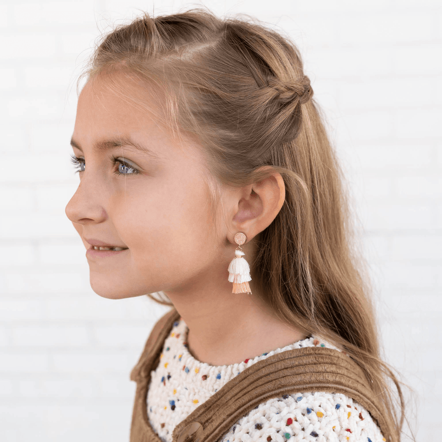 Tassel Earrings For Little Girls