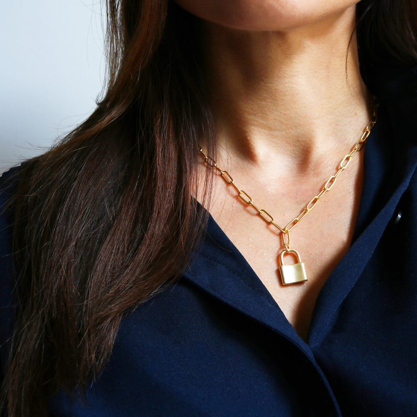 Gold Locket Necklace - Arlo And Arrows