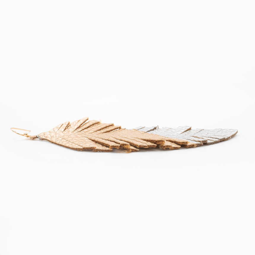 Florida State Feather Earrings Flat View