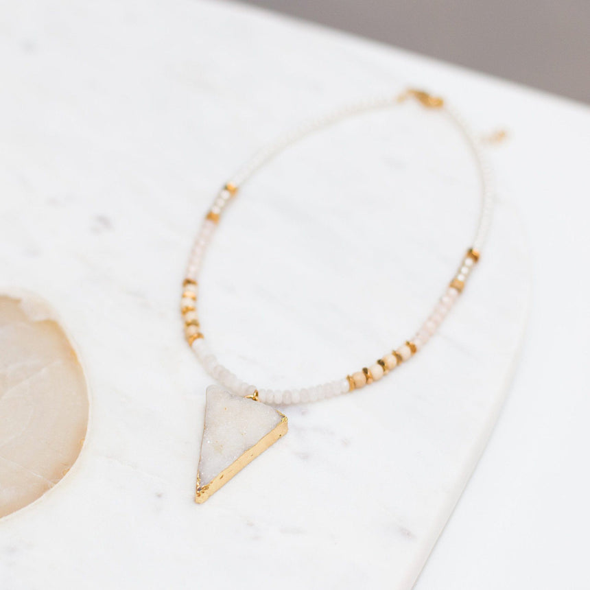 'Cara' Druzy Arrowhead Choker Necklace - Arlo and Arrows