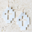 White Fabric Cross Earrings - Arlo And Arrows