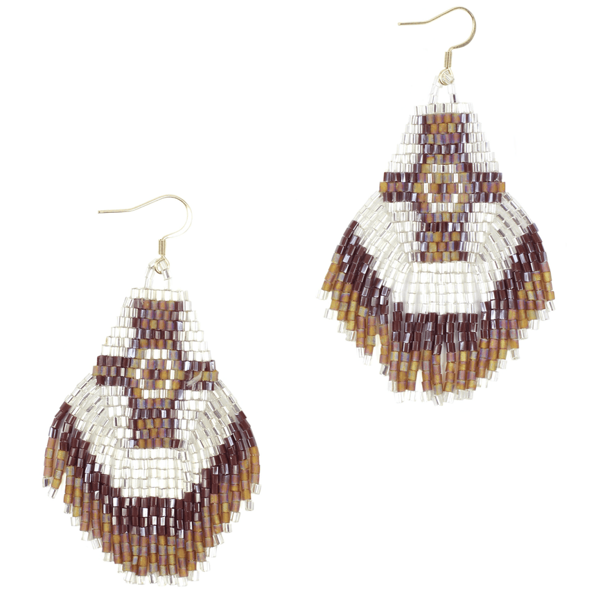 Beaded Aztec Tassel Earring