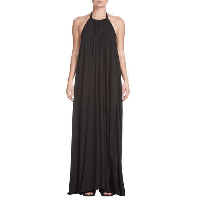 Women's Black Halter Maxi Dress - Arlo And Arrows