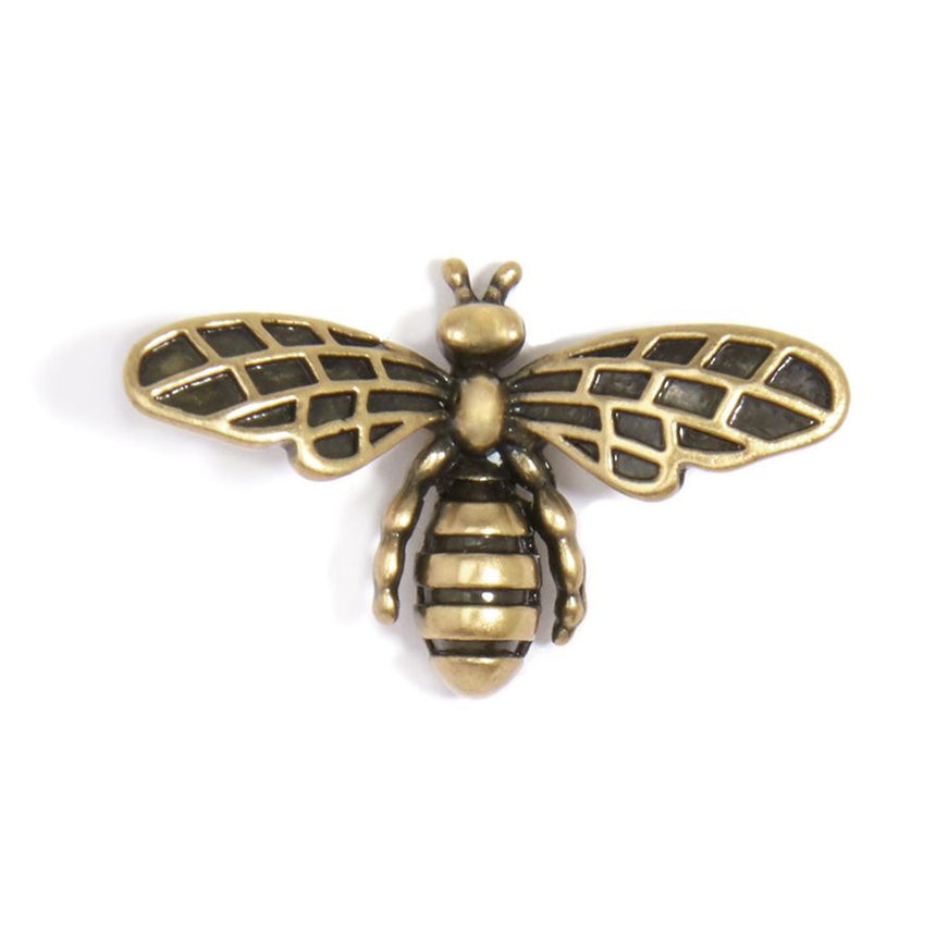 Burnished Metal Bee Earring
