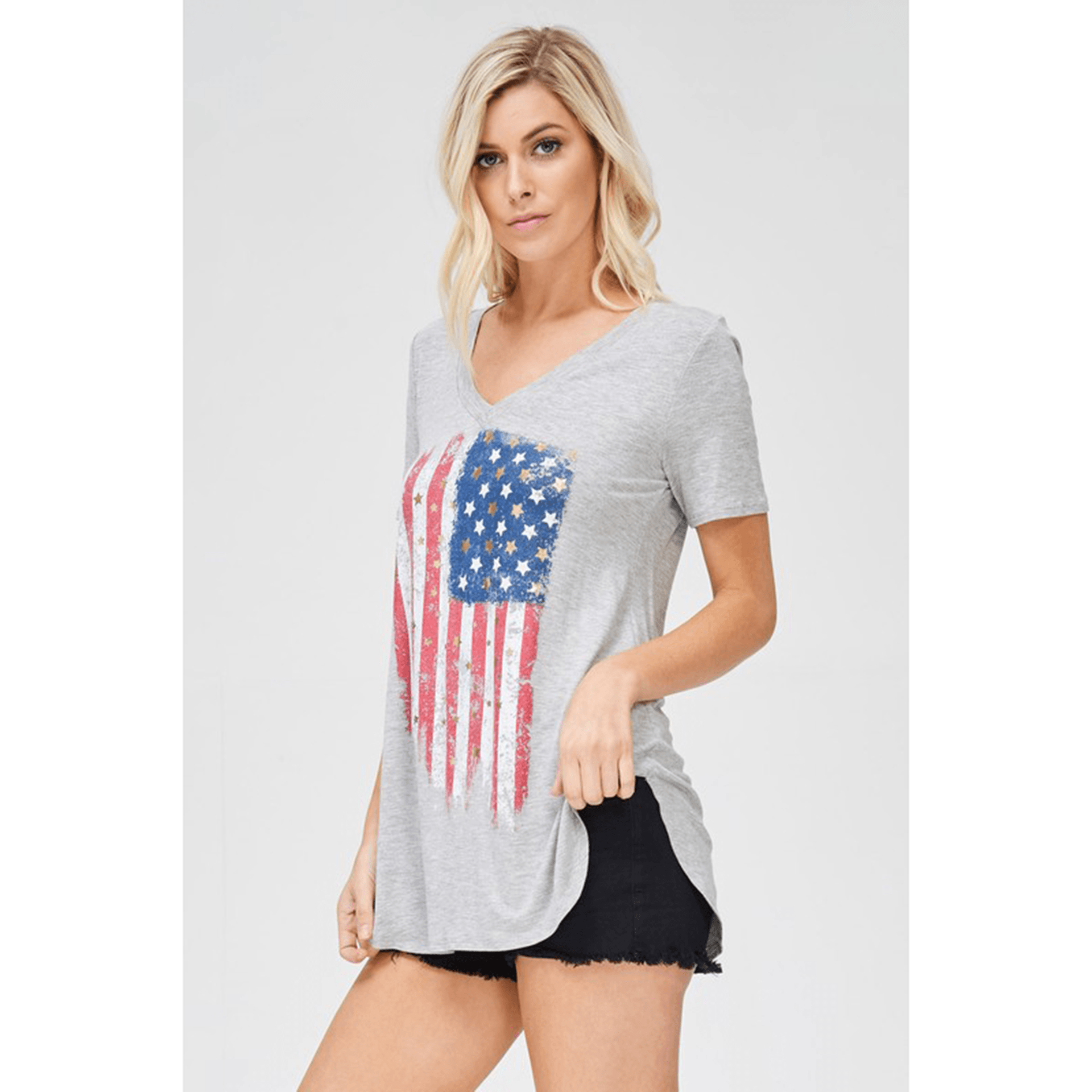 Women's American Flag Top (2 Colors) - Arlo and Arrows
