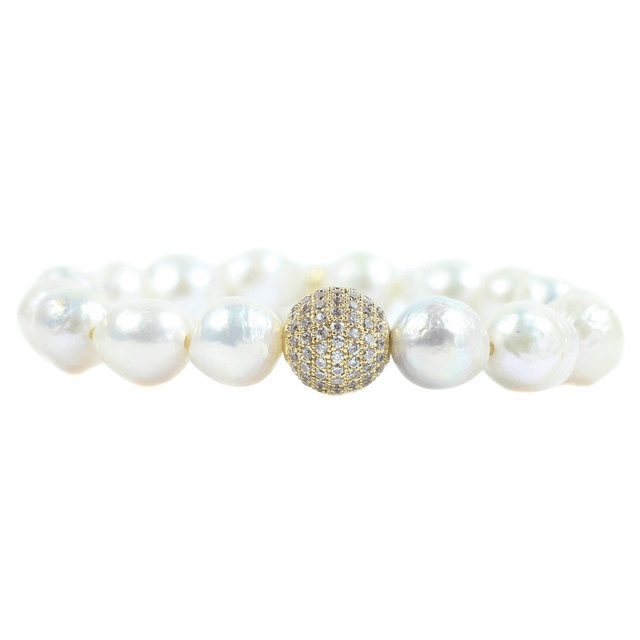 Baroque Pearl Beaded Bracelet - Arlo And Arrows