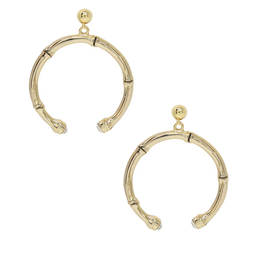 Wishful Thinking Gold Bamboo Earrings