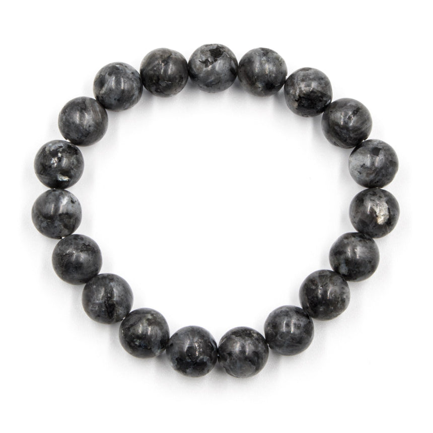 Dark Slate Grey Beaded Bracelet - Arlo and Arrows