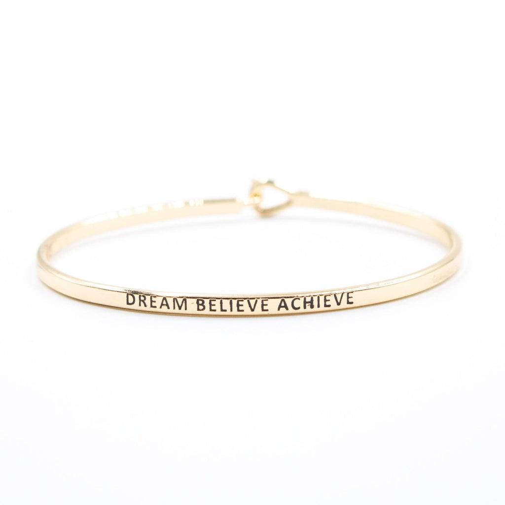 'Dream Believe Achieve' Bracelet - Arlo and Arrows