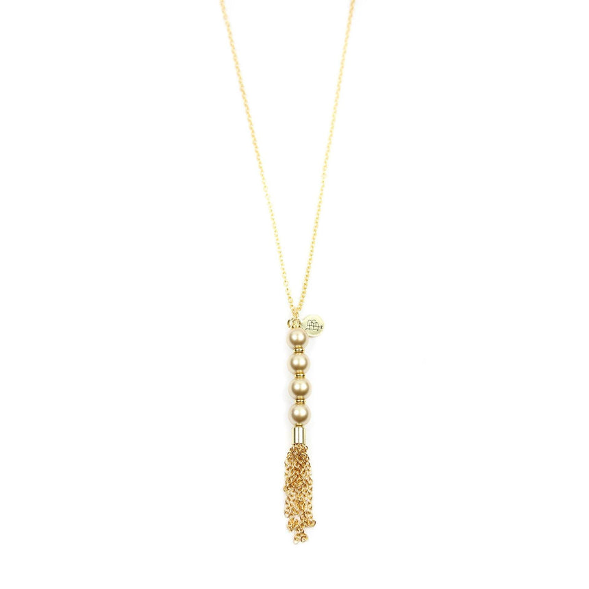 Champagne Pearl Mimi Necklace - Arlo and Arrows