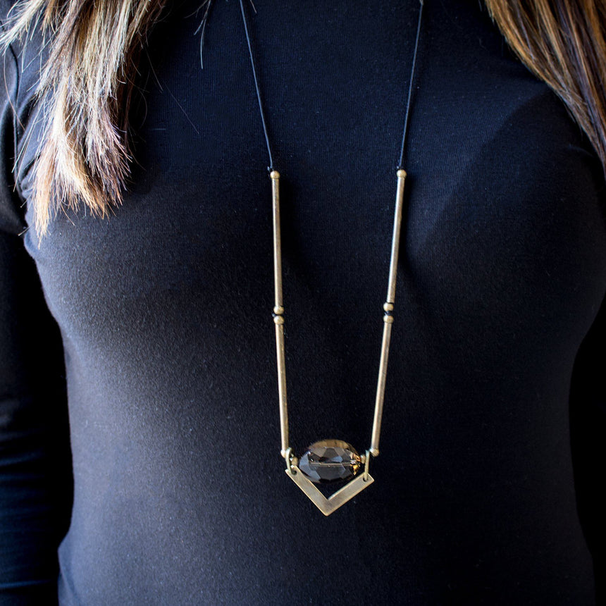 Crystal Pull-Tie Necklace - Arlo and Arrows