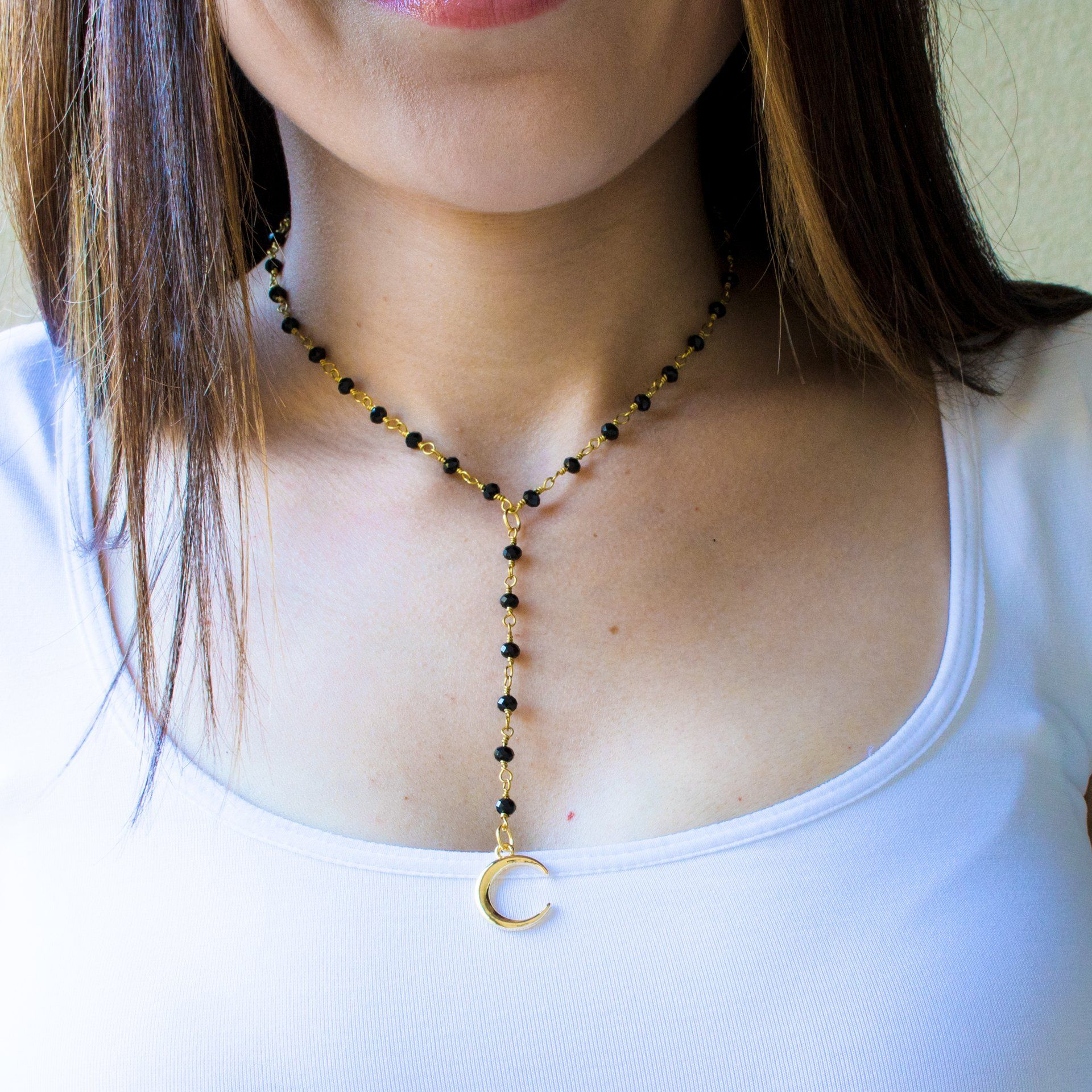 Moon Lariat in Black - Arlo and Arrows