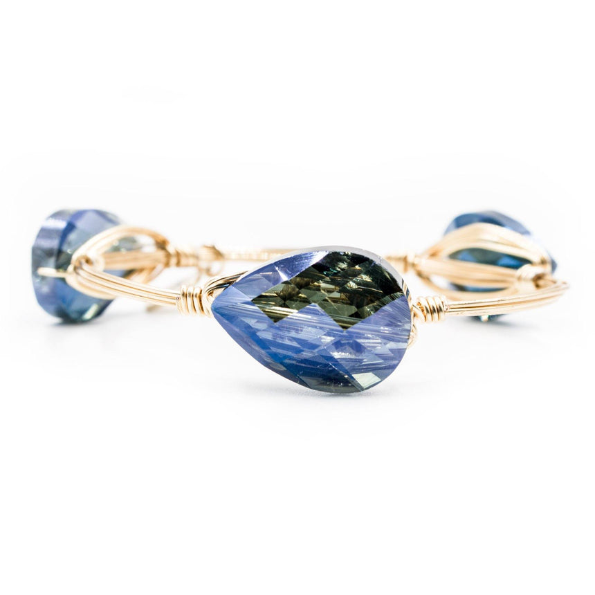 Womens crystal bracelet in blue